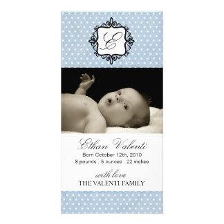 Tarjeta de la foto de la invitación del nacimiento tarjeta fotografica personalizada