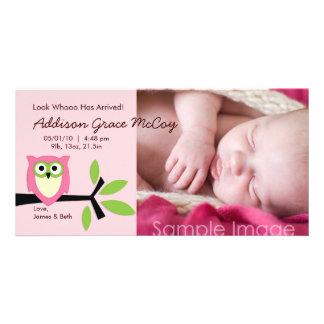 Tarjeta de la foto de la invitación del nacimiento tarjeta fotográfica personalizada