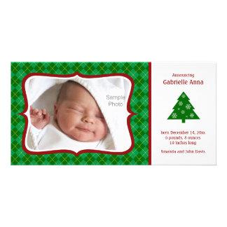 Tarjeta de la foto de la invitación del nacimiento tarjeta personal con foto