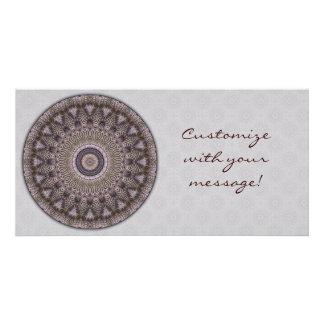 Tarjeta de la foto de la mandala de la sabiduría tarjeta con foto personalizada