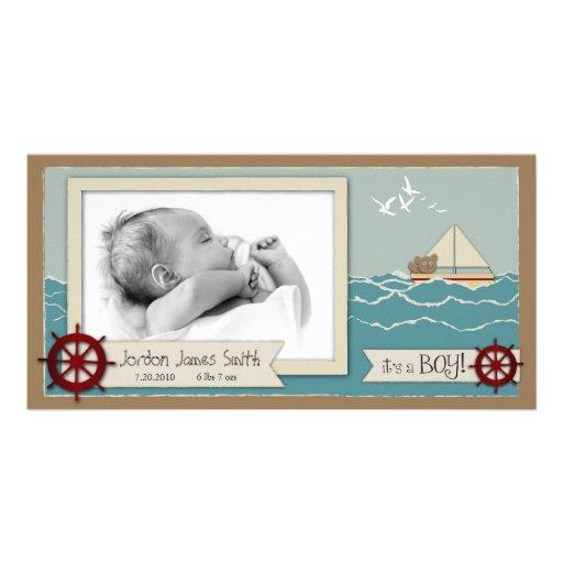 Tarjeta de la foto de la navegación tarjeta fotográfica personalizada