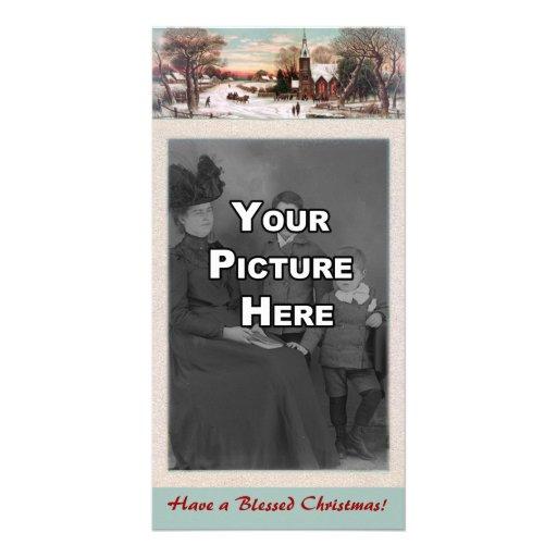 Tarjeta de la foto de la Nochebuena Tarjeta Con Foto Personalizada