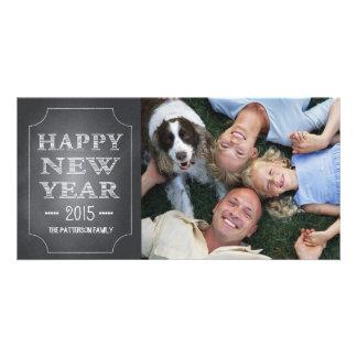Tarjeta de la foto de la pizarra del negro de la d tarjeta con foto personalizada
