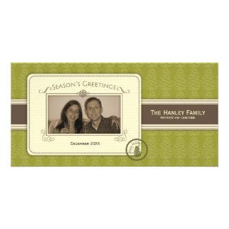 Tarjeta de la foto de la plantilla de Pinecone Tarjetas Personales Con Fotos