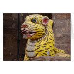 Tarjeta de la foto de la puerta del tigre