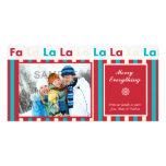 Tarjeta de la foto de la raya del día de fiesta de tarjeta fotográfica personalizada