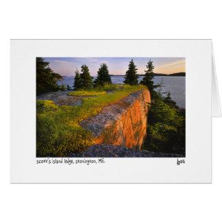 Tarjeta de la foto de la repisa de la isla de Scot