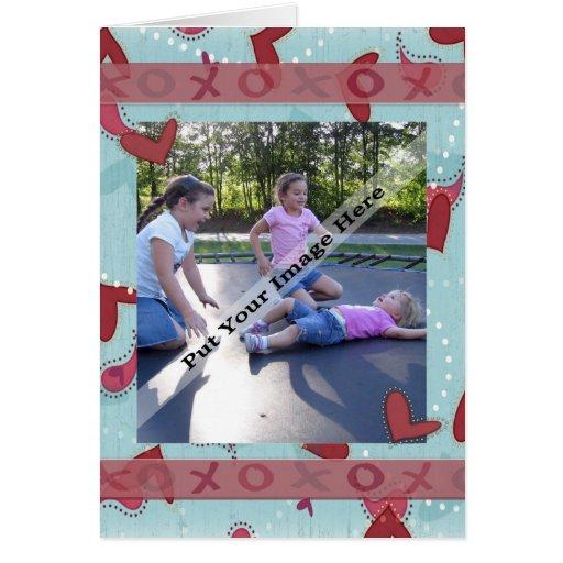 Tarjeta de la foto de la tarjeta del día de San Va