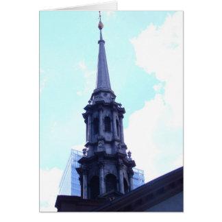 Tarjeta de la foto de la torre de iglesia de NYC