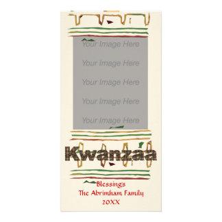 Tarjeta de la foto de las bendiciones de Kwanzaa Tarjetas Fotograficas