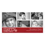 Tarjeta de la foto de las Felices Navidad con coll Tarjetas Fotográficas Personalizadas