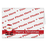 Tarjeta de la foto de las Felices Navidad de Papá