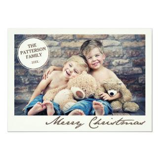 Tarjeta de la foto de las Felices Navidad del Invitación 12,7 X 17,8 Cm