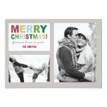 Tarjeta de la foto de las Felices Navidad Invitaciones Personales