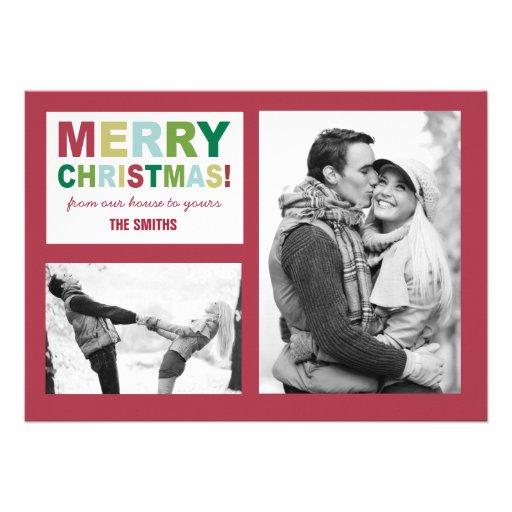 Tarjeta de la foto de las Felices Navidad Anuncios Personalizados