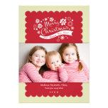 Tarjeta de la foto de las Felices Navidad Comunicado Personalizado