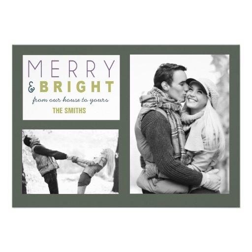 Tarjeta de la foto de las Felices Navidad Comunicados Personales