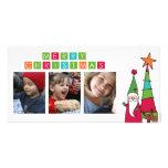 tarjeta de la foto de las Felices Navidad Tarjeta Personal