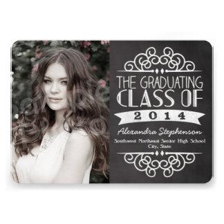 Tarjeta de la foto de las graduaciones de la pizar