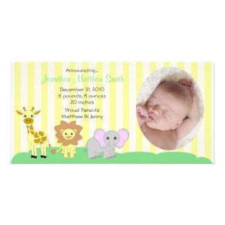 Tarjeta de la foto de las invitaciones del nacimie tarjetas personales