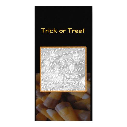Tarjeta de la foto de las pastillas de caramelo tarjetas personales con fotos
