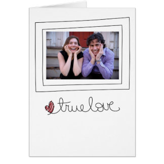 tarjeta de la foto de las tarjetas del día de San