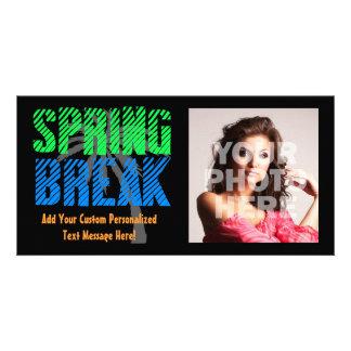 Tarjeta de la foto de las vacaciones de primavera tarjetas fotograficas