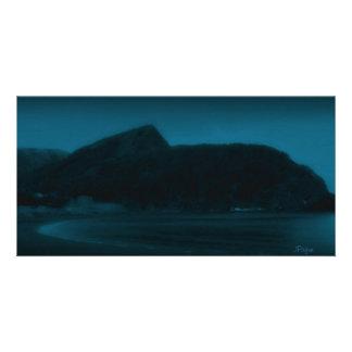 Tarjeta de la foto de los azules de la montaña tarjetas personales con fotos
