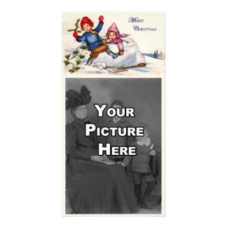 Tarjeta de la foto de los deseos del navidad tarjetas fotograficas personalizadas