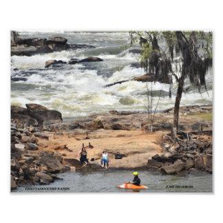 Tarjeta de la foto de los Rapids de Chattahoochee Fotografía