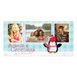 Tarjeta de la foto de los saludos 3 de la estación tarjetas con fotos personalizadas