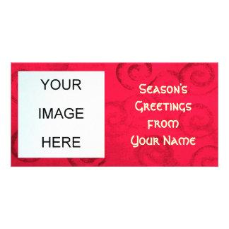 Tarjeta de la foto de los saludos de la estación tarjeta personal con foto