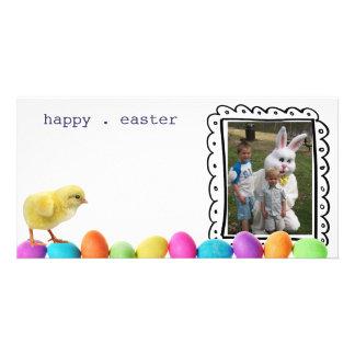 tarjeta de la foto de pascua tarjetas personales con fotos