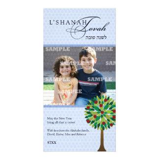 Tarjeta de la foto de Rosh Hashanah del manzano Plantilla Para Tarjeta De Foto