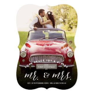 """Tarjeta de la foto de Sr. y de señora First Invitación 5"""" X 7"""""""