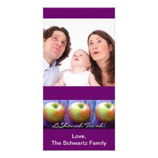 Tarjeta de la foto de tres Apple Rosh Hashanah Tarjetas Con Fotos Personalizadas