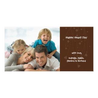 Tarjeta de la foto del amor de la familia del el d tarjeta personal con foto