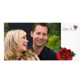 Tarjeta de la foto del amor de las tarjetas del dí tarjetas fotográficas personalizadas