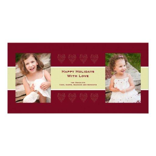Tarjeta de la foto del amor del día de fiesta tarjeta personal