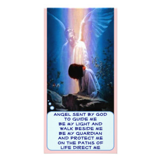 Tarjeta de la foto del ángel de guarda tarjeta con foto personalizada
