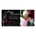 Tarjeta de la foto del árbol de navidad del diseña tarjeta fotografica