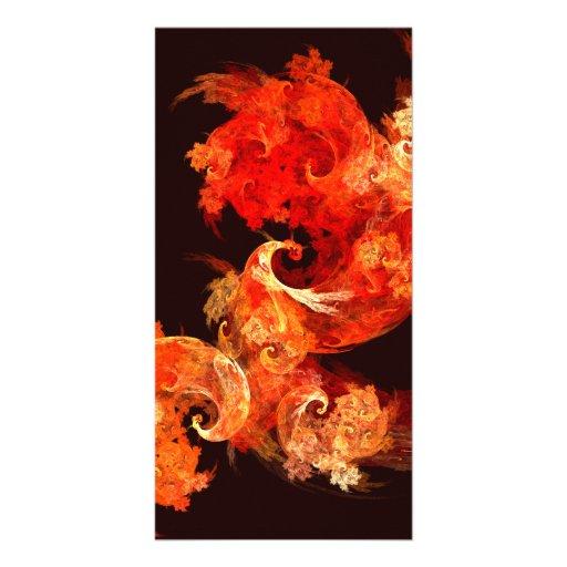 Tarjeta de la foto del arte abstracto de Firebirds Tarjeta Personal Con Foto