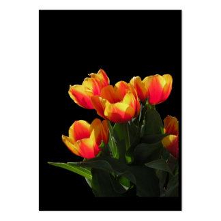 Tarjeta de la foto del ATC de los tulipanes de Rem Plantilla De Tarjeta Personal