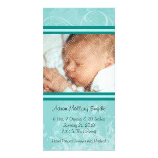 Tarjeta de la foto del bebé del estilo de la MOD Tarjetas Fotográficas
