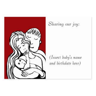 Tarjeta de la foto del bebé tarjetas de visita