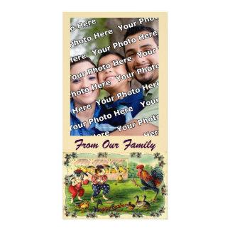Tarjeta de la foto del béisbol del conejito de pas tarjeta fotográfica