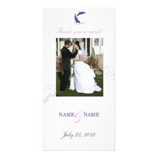 Tarjeta de la foto del boda del delfín tarjetas fotográficas personalizadas