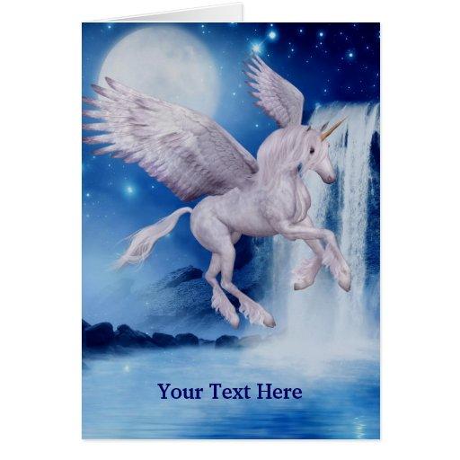 Tarjeta de la foto del caballo de la fantasía del