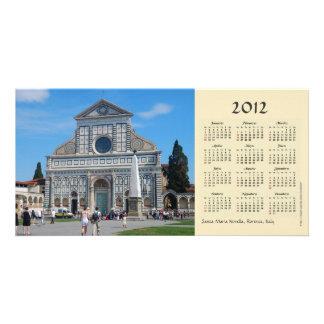 Tarjeta de la foto del calendario de la novela cor tarjeta fotografica personalizada