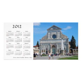 Tarjeta de la foto del calendario de la novela cor tarjetas personales